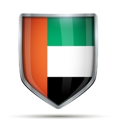 Shield with flag uae vector