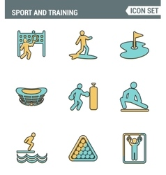 Icons line set premium quality of outdoor sports vector