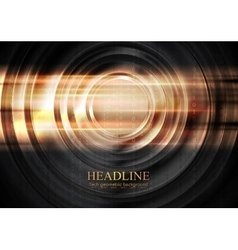 Abstract tech glowing background with circles vector