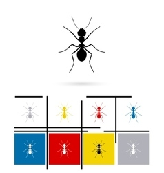 Ant silhouette icon vector image