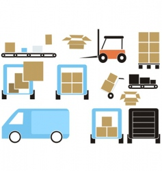 cargo elements vector image