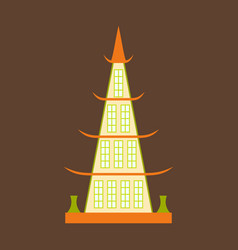 chinese restaurant building flat icon vector image