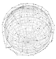 close up of earth and network lines on top of it vector image vector image