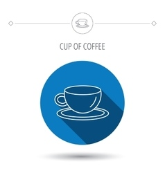 Coffee cup icon Tea or hot drink sign vector image vector image