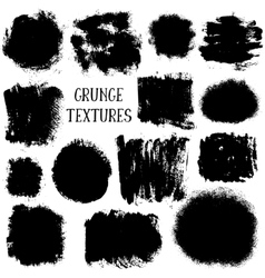collection of black ink abstract grunge vector image vector image
