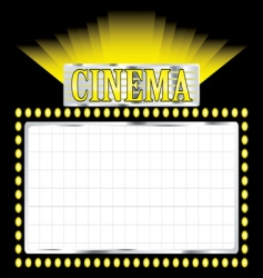 deco cinema vector image