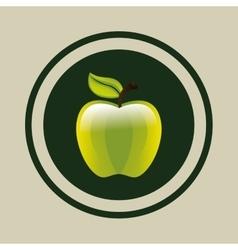 Delicious green apple vector