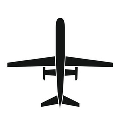 Drone icon in black style vector