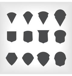 Emblem heraldic shields vector