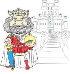fairytale cartoon King Charles the First vector image