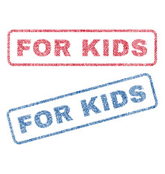 For kids textile stamps vector