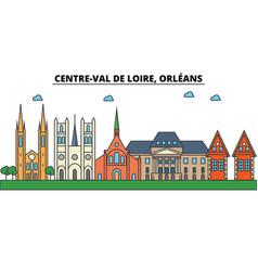 France orleans centre val de loire city vector