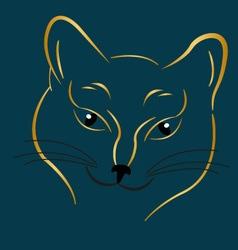 Golden cat vector