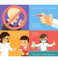 Medical flu vaccination concept background vector image vector image