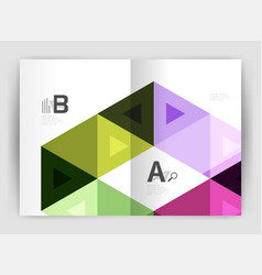 modern business brochure or leaflet a4 cover vector image vector image