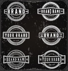 Retro Brand Labels vector image vector image