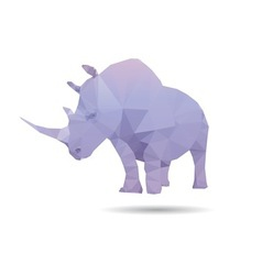 Rhino isolated vector