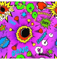 Seamless pattern background with comic bubbles vector