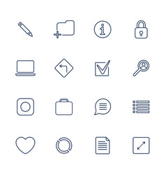 Set of 16 icons for software application vector