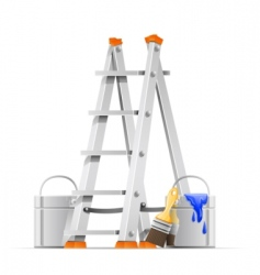 set painter tools vector image vector image