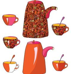 tea sketch vector image vector image