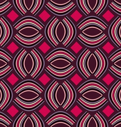 The pattern of ovals and squares vector image vector image