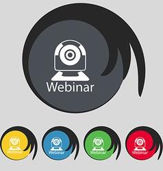 Webinar web camera sign icon online web-study vector