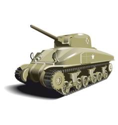 American tank vector image