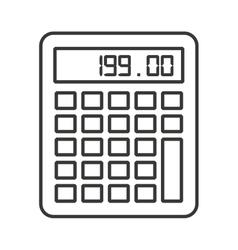Calculator digital math icon vector