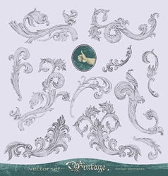 Vintage and antique swirls vector image