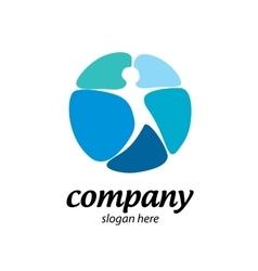 Star man logo vector image