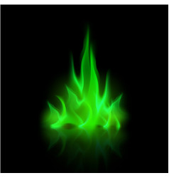 Green magic fire flame bonfire vector