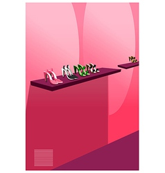 Female footwear display vector
