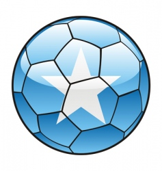 somalia flag on soccer ball vector image
