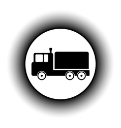 Cargo car button vector