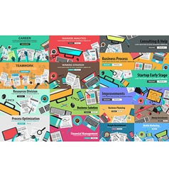 Mega pack of design concepts for business strategy vector