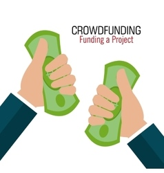Crowdfunding icon design vector