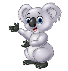 Cartoon koala presenting isolated vector