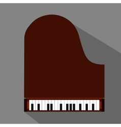 Piano flat icon vector