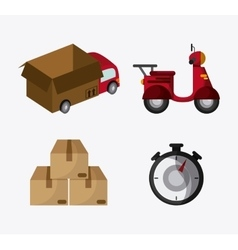 Delivery transportation design vector