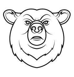 a bear head logo vector image