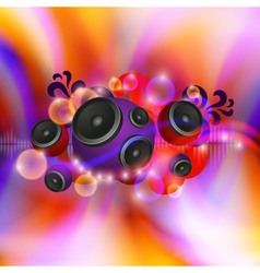 Abstract music background with round speakers vector image vector image