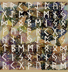 Abstract seamless pattern runes grunge texture on vector