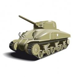 American tank vector image vector image