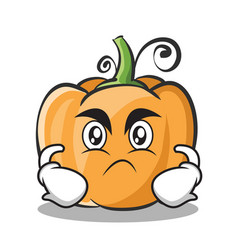 Angry pumpkin character cartoon style vector