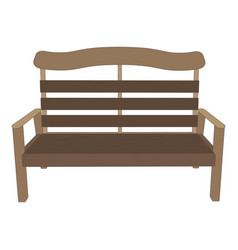 Bench wooden park background view garden isolated vector