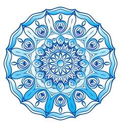 Blue snowflake vector image vector image