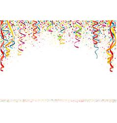 Colorful confetti background vector