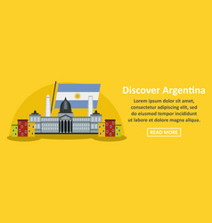 Discover argentina banner horizontal concept vector