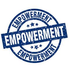 Empowerment blue round grunge stamp vector